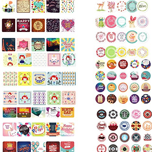 Stickers for Gift Wrapping, 105pcs Stickers, Great for Card-making / Home Baking/ Handbook DIY
