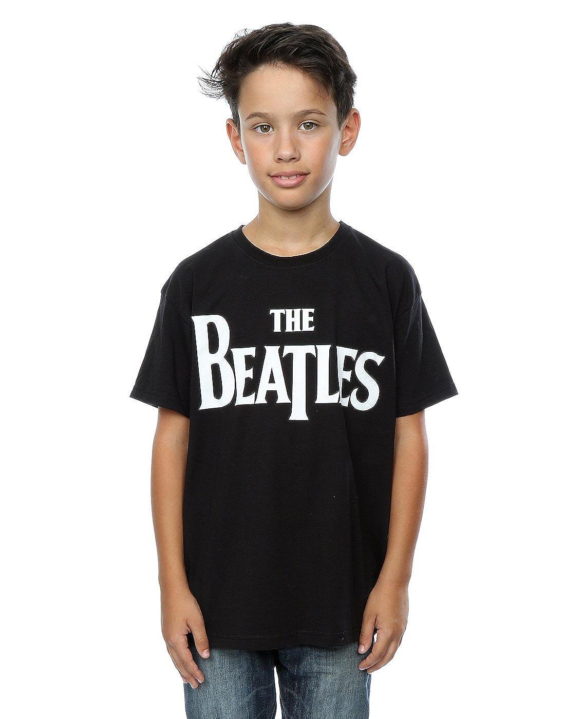 The Beatles Boys Drop T Logo T-Shirt 9-11 Years Black Absolute Cult