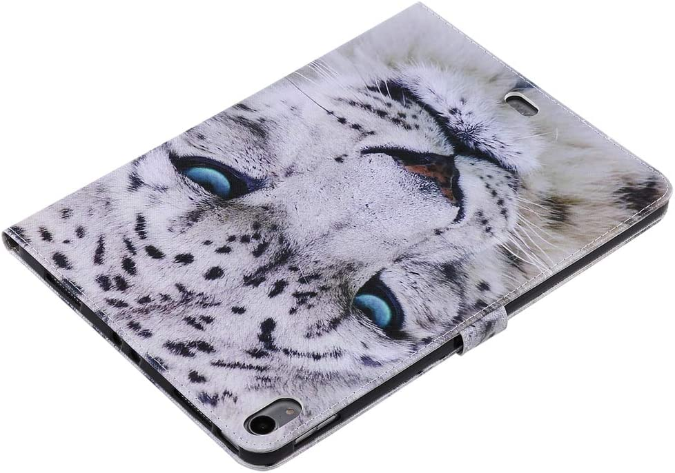 2018 KM-WEN/® Tablet Case for Apple iPad Pro 11 Inch Bookstyle Color Painting Serie White Leopard Pattern PU Leather Flip Cover Case Bag with Stand Protective Cover Color-4