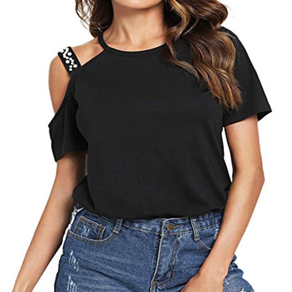 AIni - Camisa de Mujer de algodón, Talla Grande, asimétrica ...