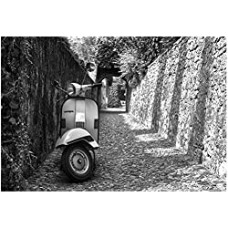 Vespa In Alley Amalfi, Italy Poster 19 x 13in