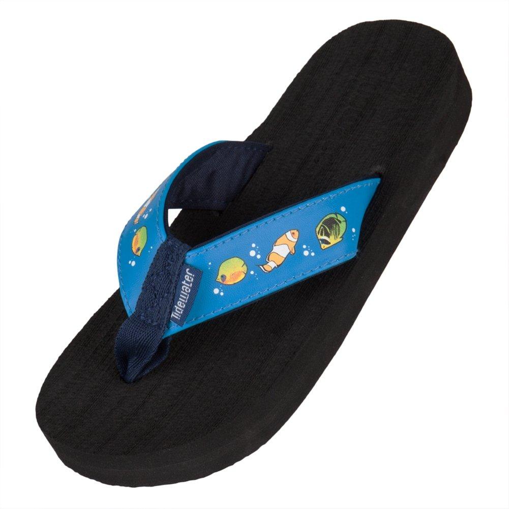 Tidewater Sandals Children's Tropical Fish,Blue,US L M