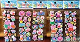 Stickers Cute Mini 3D Peppa Pig Stickers Doodle Decoration on Laptop/Book Toys Gifts For Kids (5 PCS)