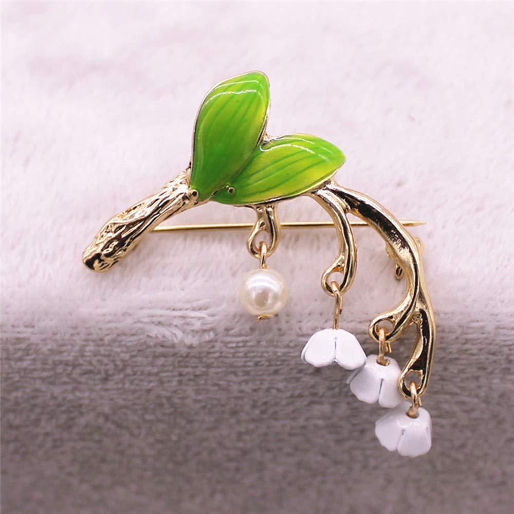 Ogquaton Regalo de boda de la Navidad de los pernos de los broches de la flor de Muguet de la alta calidad para las mujeres