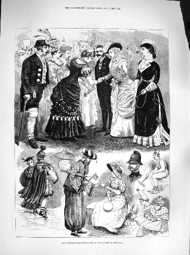 Mayor Fancy Dress Costume (Print 1883 Mayor Fancy Dress Ball Liverpool Townhall Costumes 124P182)