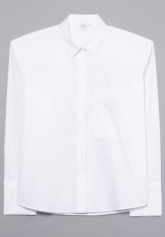 Eterna Long Sleeve Blouse 1863 by Premium Uni Bianca