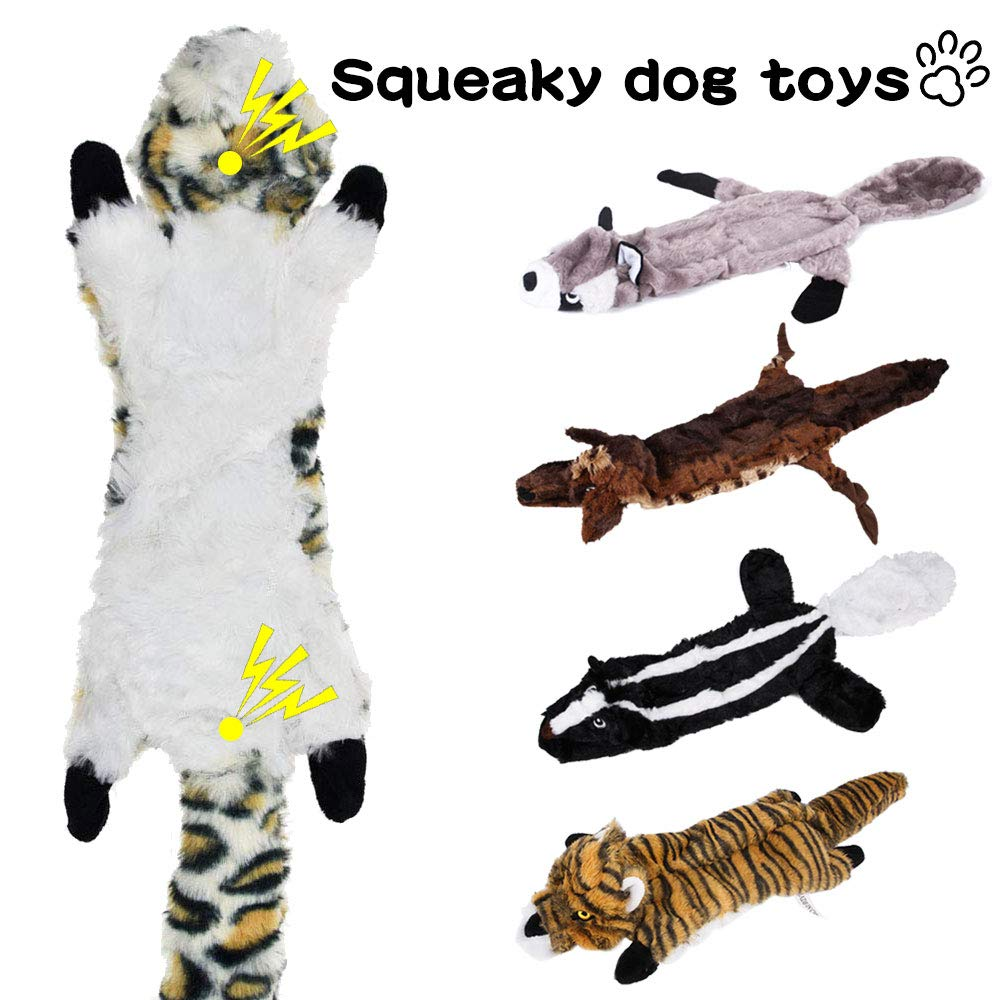 Gooswexmzl Dog Squeaky Toys - Stuffingless Dog Toys for Large Breed No Stuffing Dog Toy Set Dog Chew Toys Dog Plush Toys 5 Pack