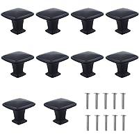 Dokpav Set van 10 stuks mat-zwarte ladenknoppen, meubelknoppen, ladegrepen, ladeknoppen set, meubelgreep, modern, met…