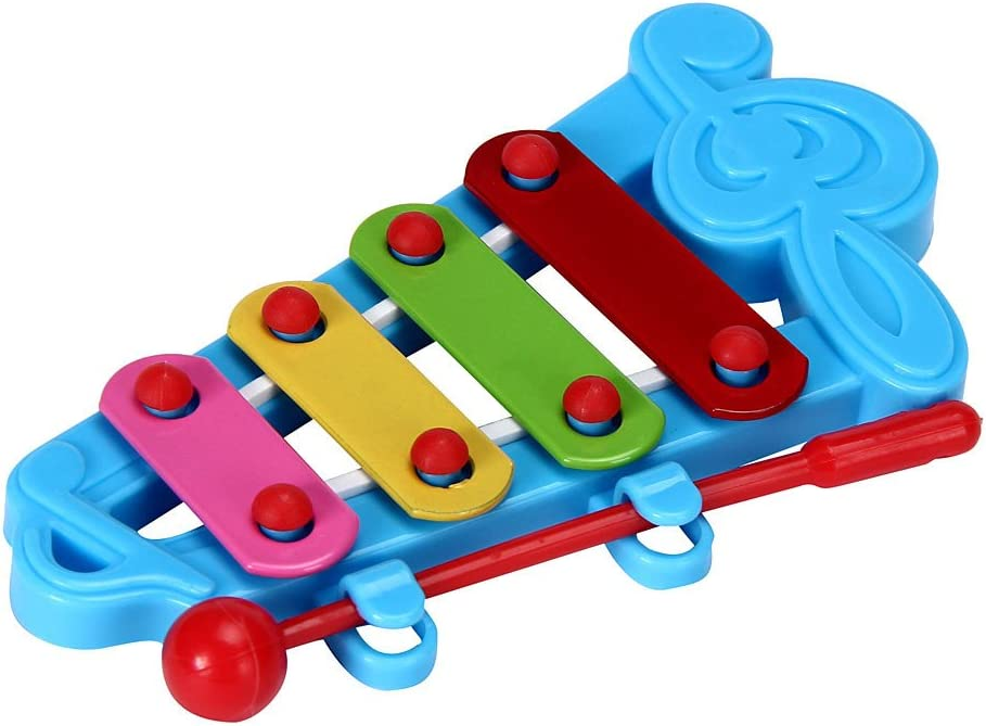 Baby Kid 4-Note Wisdom Development Interest Development //Childrens Day Best Birthday Gift for Children,Boys,Girls,Toddlers,1 2 3 4 5 6 7 12 Toys for Years Old BHYDRY Xylophone Musical Toys