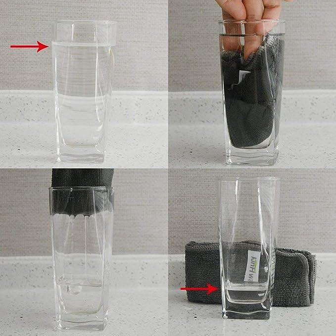 KinHwa Trapos de Cocina microfibra Súper Absorbente Paños de cocina sin pelusa 30cm x 30cm (Grisx10)