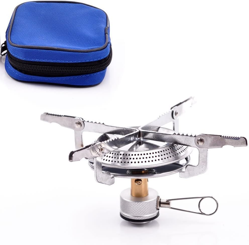 Alpertie Lightweight Large Burner Classic Camping and Backpacking Stove. For iso-Butane Propane Canisters