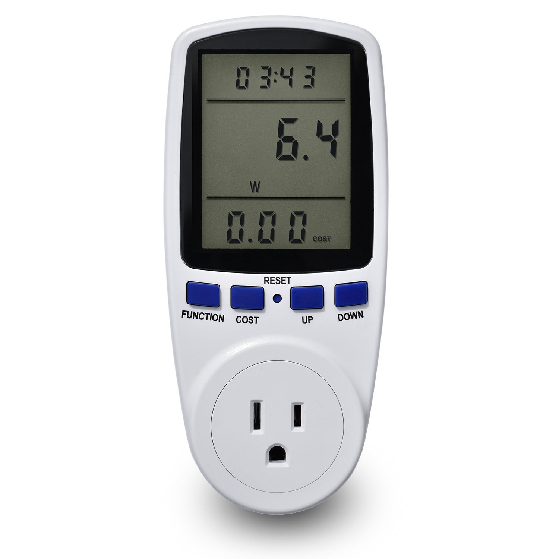 TreeStar Electricity Usage Monitor Plug, Watt Voltage Amps Socket Meter with LCD Display