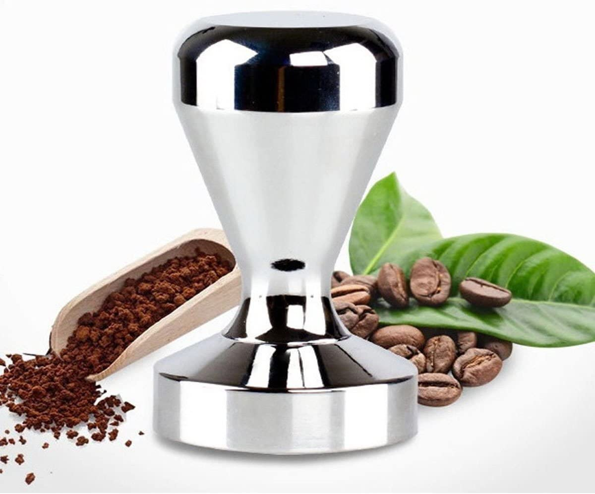 Bluefun Espresso Coffee Tamper - Stainless Steel American Flat Base Coffee Bean Press (51Mm)