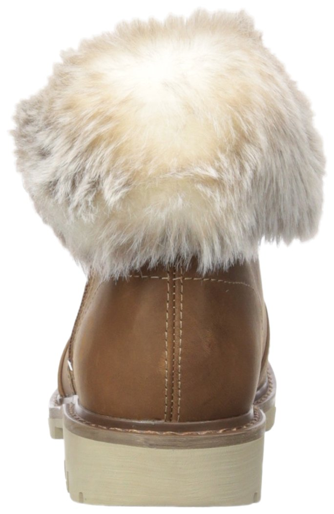 Caterpillar Women's Flurry Waterproof Pull on Cold Weather Faux Fur Collar Ankle Boot B01NBKDEA4 5.5 B(M) US|Dachshund