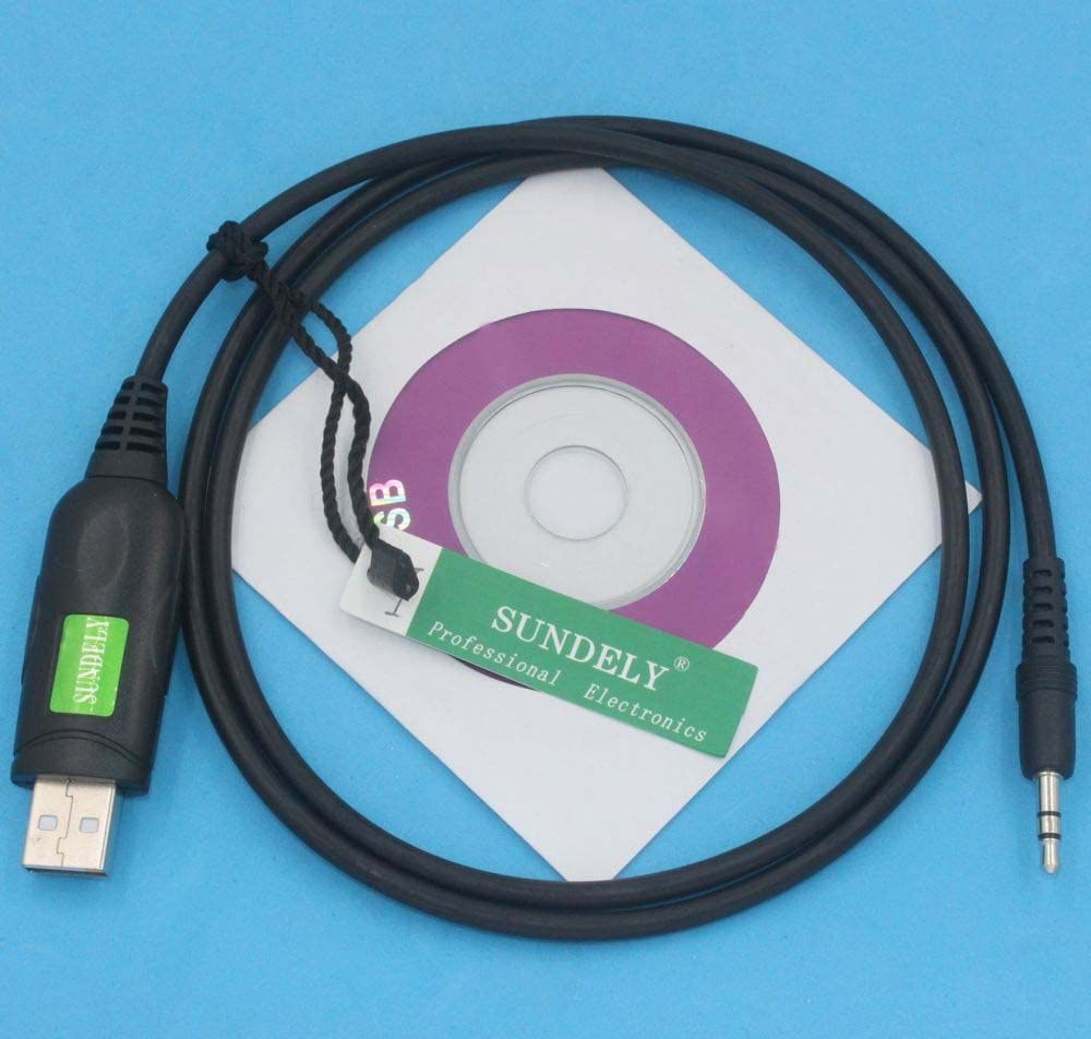Software CS-F14 SUNDELY USB Programming Programmer Cloning Cable Cord Cat Lead for Icom Radios IC-F14 IC-F24 1-pin