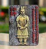 SOUVENIR 3D Resin FRIDGE MAGNET --- Terracotta Warriors and Horses , Xian ,China