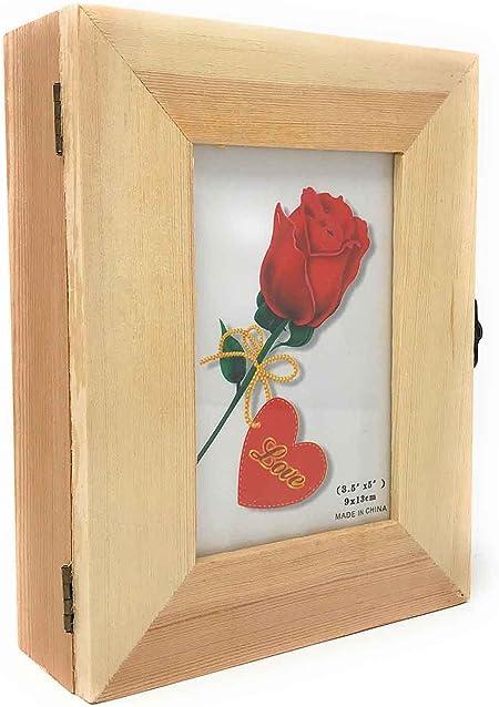 MLthogar Caja portafotos de Madera con 4 Compartimentos: Amazon.es ...