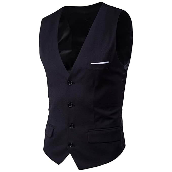 well known huge discount half price Dress Vests for Men Slim Fit Mens Suit Vest Male Waistcoat ...