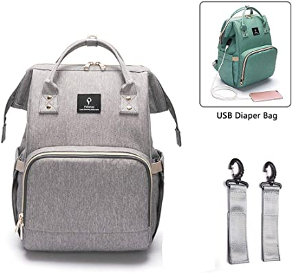 Baby Changing Bag,Diaper Bag,Maternity Nappy Bags Backpack Rucksack with 2 Stroller Straps /& USB Charging Port for Mom and Dad Multi-Function /& Large Capacity