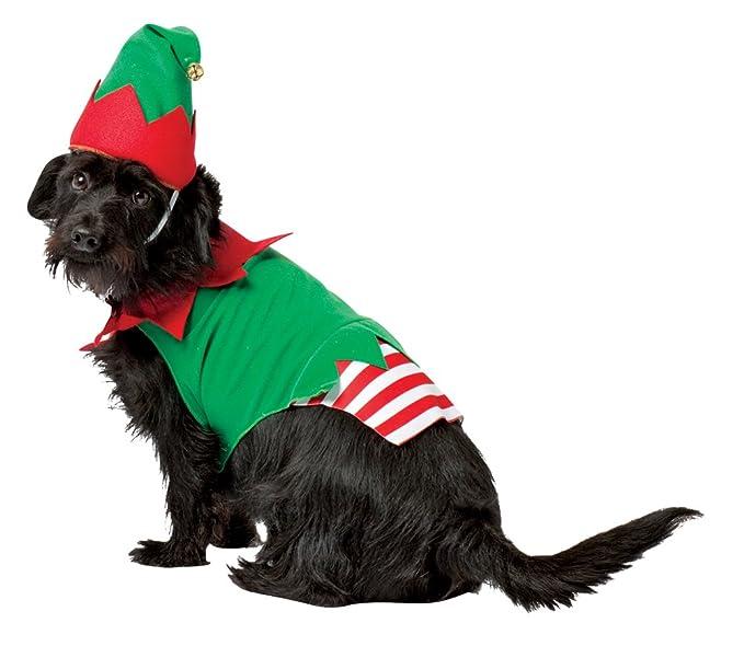 Amazon.com: Disfraz de elfo de Navidad para perro: Mascotas