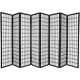 8 panel shoji divider - Oriental Furniture 6 ft. Tall Window Pane Shoji Screen - Black - 8 Panels