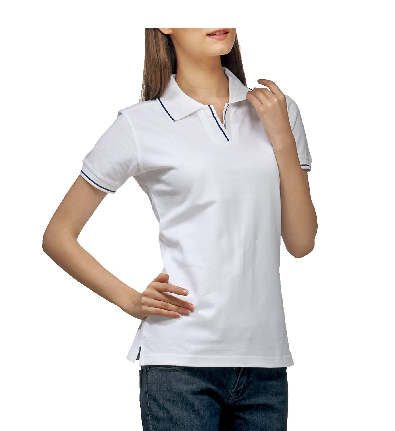 0380a3188aa Womens White Polo T Shirts - Joe Maloy