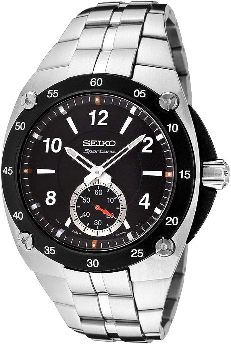 Seiko sportura Reloj para Hombre Analógico de Cuarzo con Brazalete de Acero Inoxidable SRK023P1