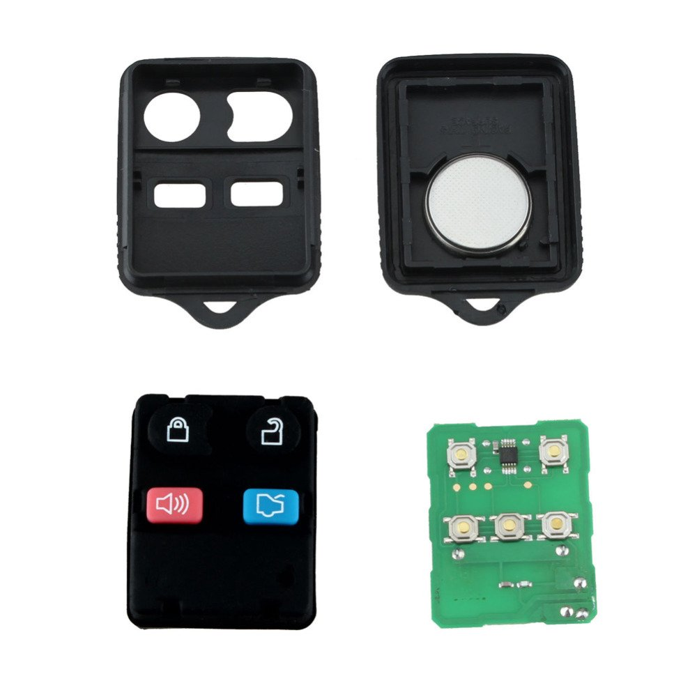 Amazon.com: MeiBoAll 4 Buttons Remote Control Key Keyless Entry Fob Transit 315 MHz/433 MHz for Ford: Automotive