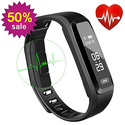 WitMoving Fitness Tracker, Sport Water Resistant Smart Bracelet Wristband Watch with Heart Rate Monitor Pedometer Touchscreen for iPhone Samsung IOS Android Smartphones