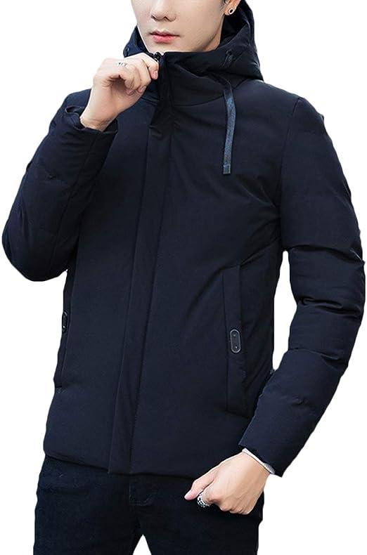 3色 ダウンジャケット フード付き シンプル 無地 アウター コート 防寒 大きいサイズ メンズ 冬
