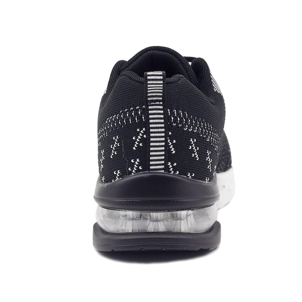 JARLIF Women's Athletic Running Sneakers Air Fitness Sport Workout Gym Tennis Walking Shoes Black 8 B(M) US by JARLIF (Image #1)
