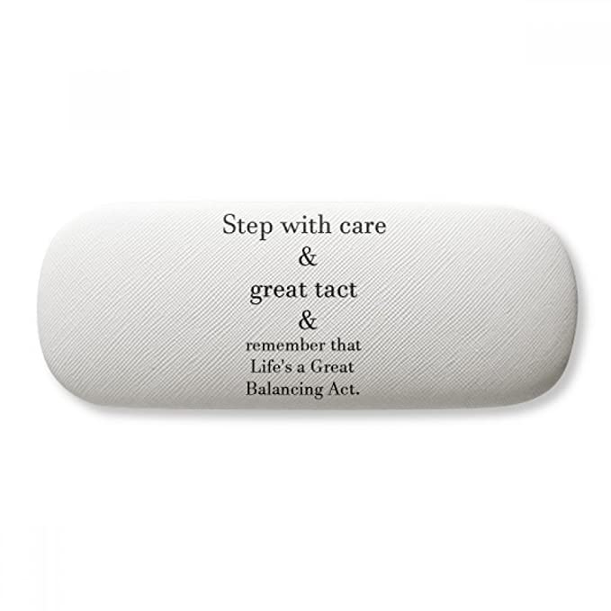 Care And Tact Give You Balance Life Quotes Glasses Case Eyeglasses