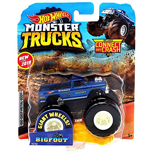 - Bigfoot Giant Wheels Monster Trucks with Connect & Crash Car