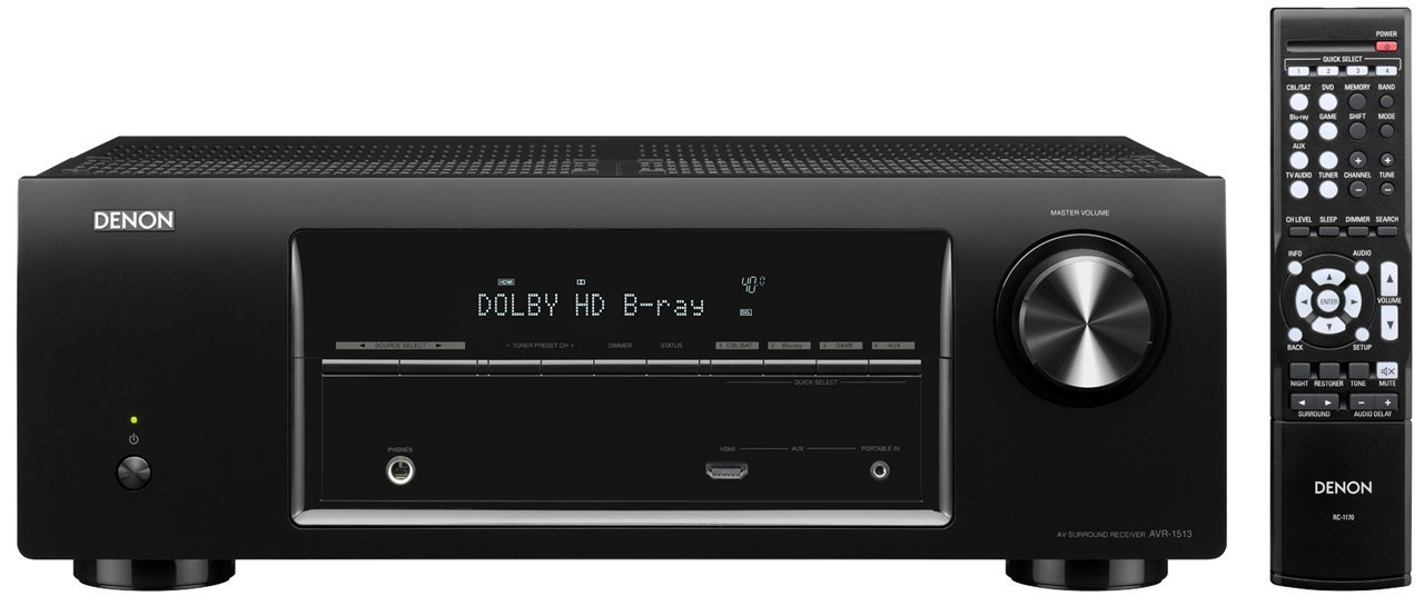 Amazoncom Denon Avr 1513 51 Channel 3d Pass Through Home Theater