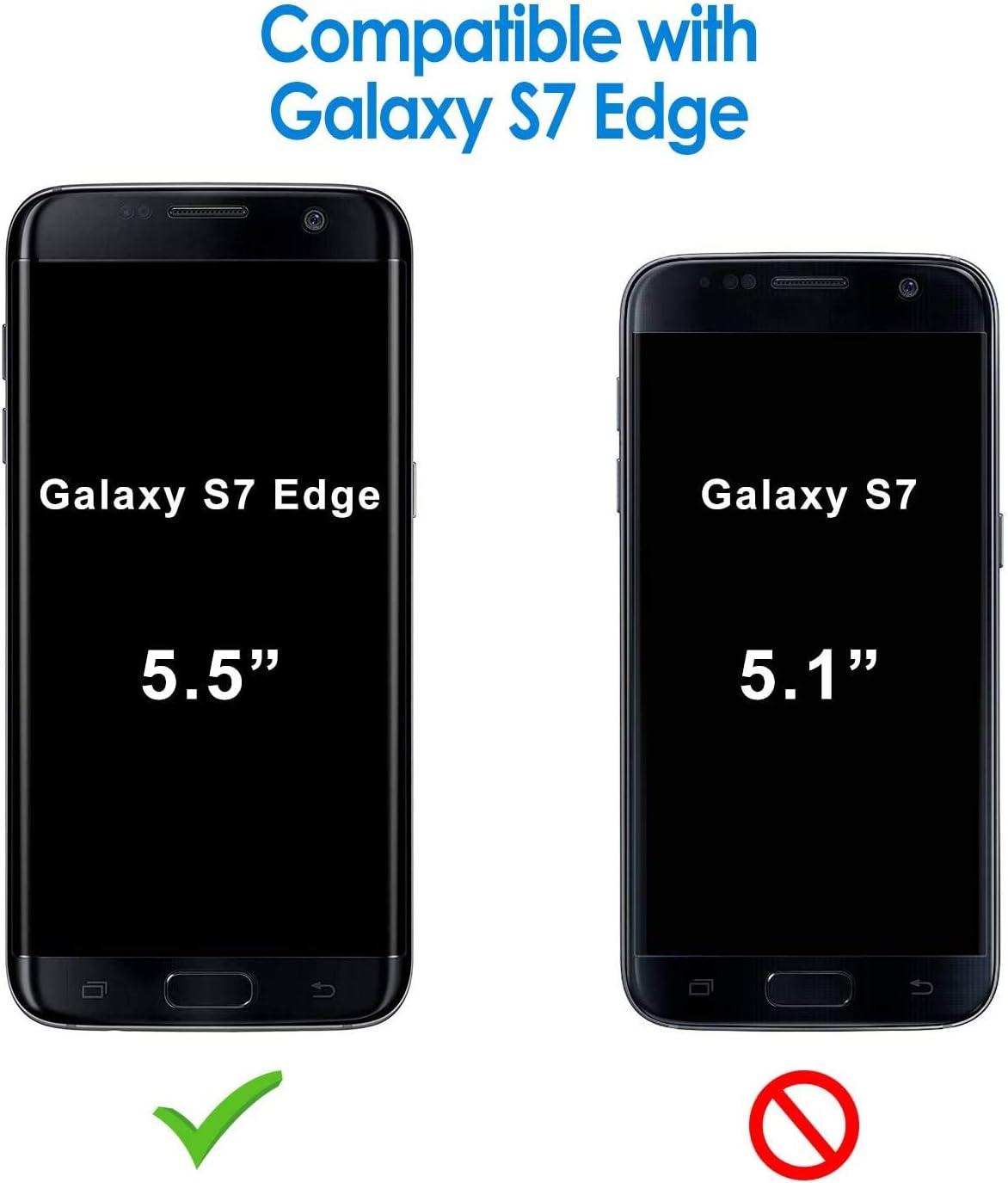 LeYi Compatible with Funda Samsung Galaxy S7 Edge Silicona Purpurina Carcasa con [2-Unidades] 3D Curvo Pet Pantalla,Transparente Cristal Bumper Telefono Fundas Case Cover para Movil S7 Edge Verde: Amazon.es: Electrónica