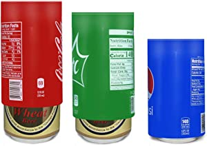 Silicone Covers for Beers Cans 3 packs,Silicone Sleeve Wraps Beverage Hide a Beer That Look Like Soda, 12FL OZ 355ml