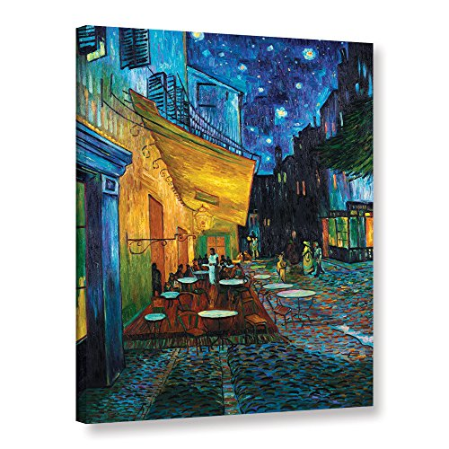 - ArtWall Café Terrace at Night on the Place du Forum by Vincent van Gogh 24x30 Gallery Wrapped Canvas