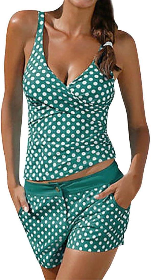 Swimwear Sportswear Tankini Set Costumi Canottiera Mounter Donne Vintage a Vita Alta Swimsuit Pantaloncini da Donna Athletic Costume da Bagno