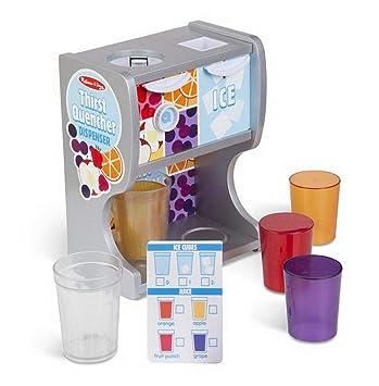 toybakery Melissa & Doug – Niños Madera Juguete Drink Dispenser dispensador de Bebidas con Cubitos de