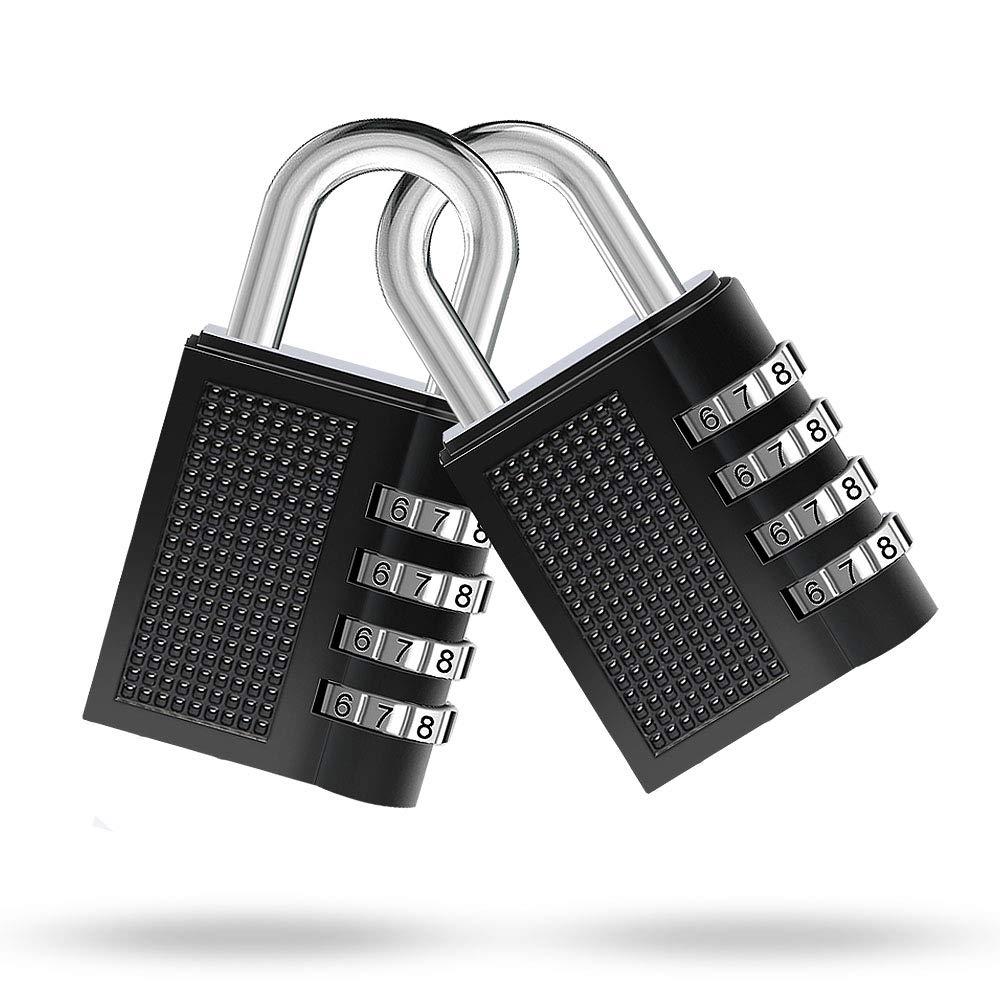 Vorh/ängeschloss Hasp Cabinet /& Storage Kombinationsschloss Gym /& Sports Locker 2pack Wetterfestes Metall /& Plated Steel Combination Lock f/ür Schule Stelliges Zahlenschloss Surepp