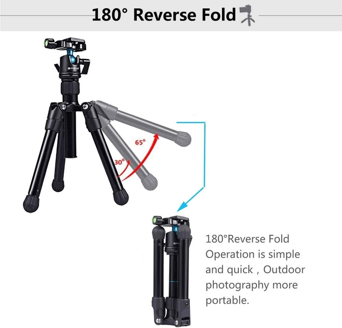 Camera /& Photo Products Pocket Mini Microspur Photos Magnesium Alloy Tripod Mount with 360 Degree Ball Head for DSLR /& Digital Camera Load Max Adjustable Height 3kg 24.5-57cm