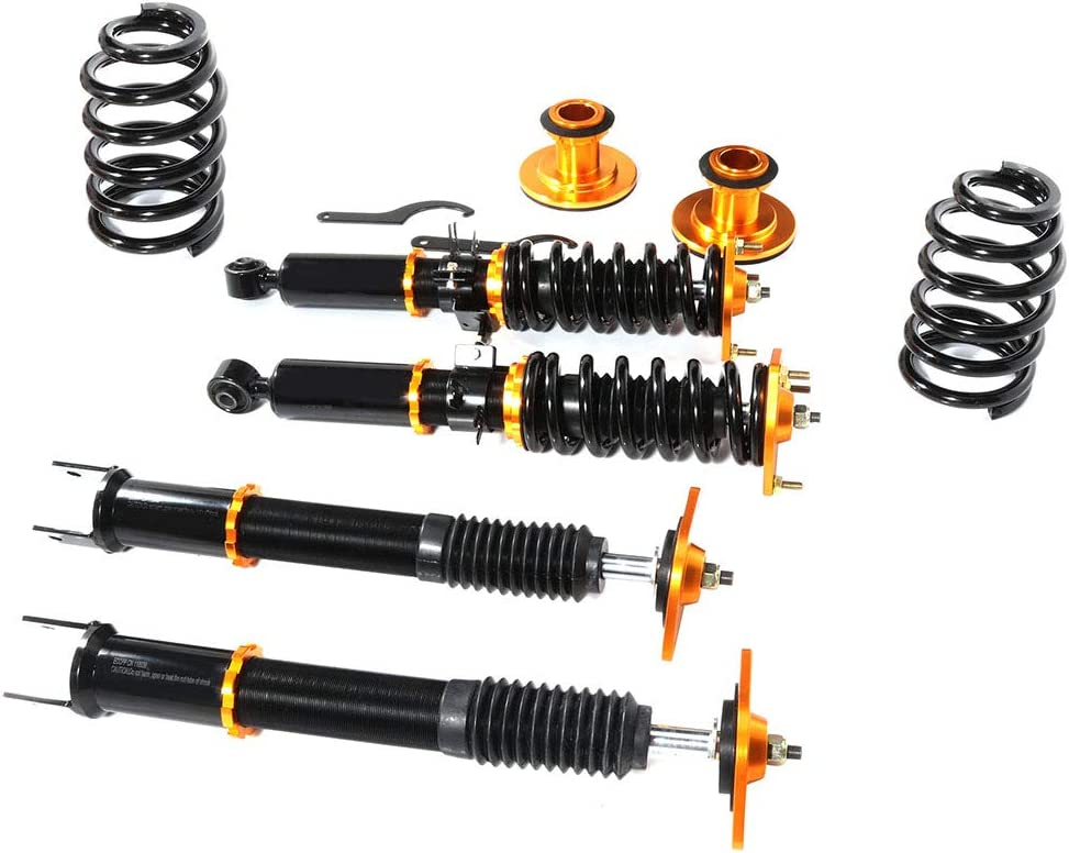 ANGLEWIDE Adjustable Height Coilovers Struts Front And Rear Fit for 2009-2016 370Z Coil Spring Over Shock Set of 4