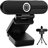 Webcam 4K 1080P with Microphone - 8 Megapixel USB Computer Web Camera Privacy Shutter and Tripod, Pro Streaming Webcam…