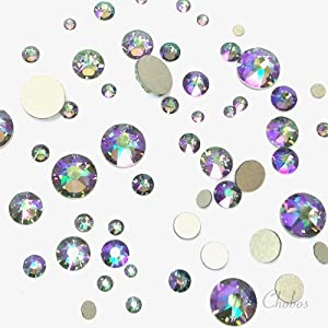 SWAROVSKI CRYSTAL PARADISE SHINE (001 PARSH) 144 pcs 2058/2088 Crystal Flatbacks rhinestones nail art mixed with Sizes ss5, ss7, ss9, ss12, ss16, ss20, ss30