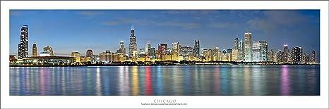 Vista Point Studio Gallery Chicago Sunset Panoramic Art Print Posters Prints