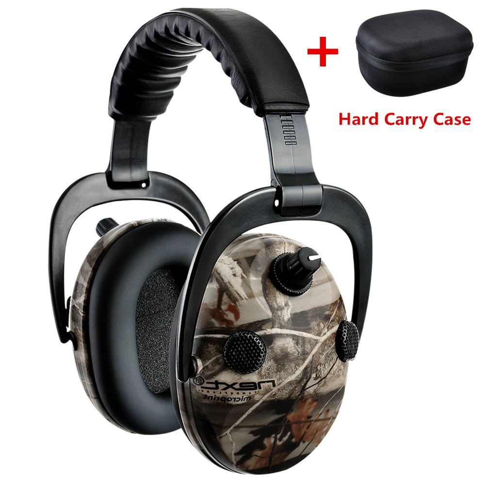 PROTEAR Sound Amplification Electronic Shooting Hearing Protection Ear Muffs with a Hard Carrying Case - NRR 25dB Professional Noise Reduction Headphones for Hunting,Shooting and Gun Range