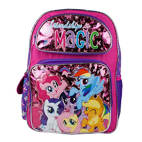 Pony Gift - New My Little Pony Friendships Is Magic Large Backpack-36370