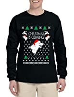 Allntrends Men's Long Sleeve Christmas Is Coming House Stark Ugly Xmas