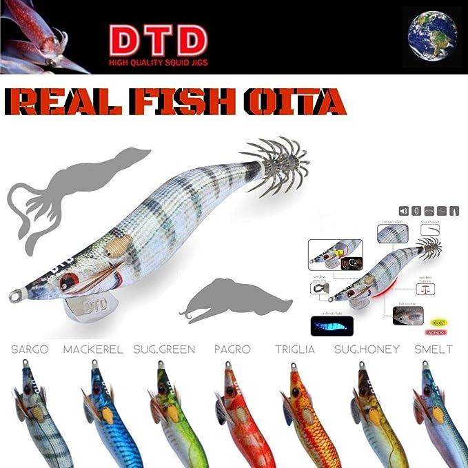 DTD HI QUALITY SQUID JIG REAL FISH OITA 2.2