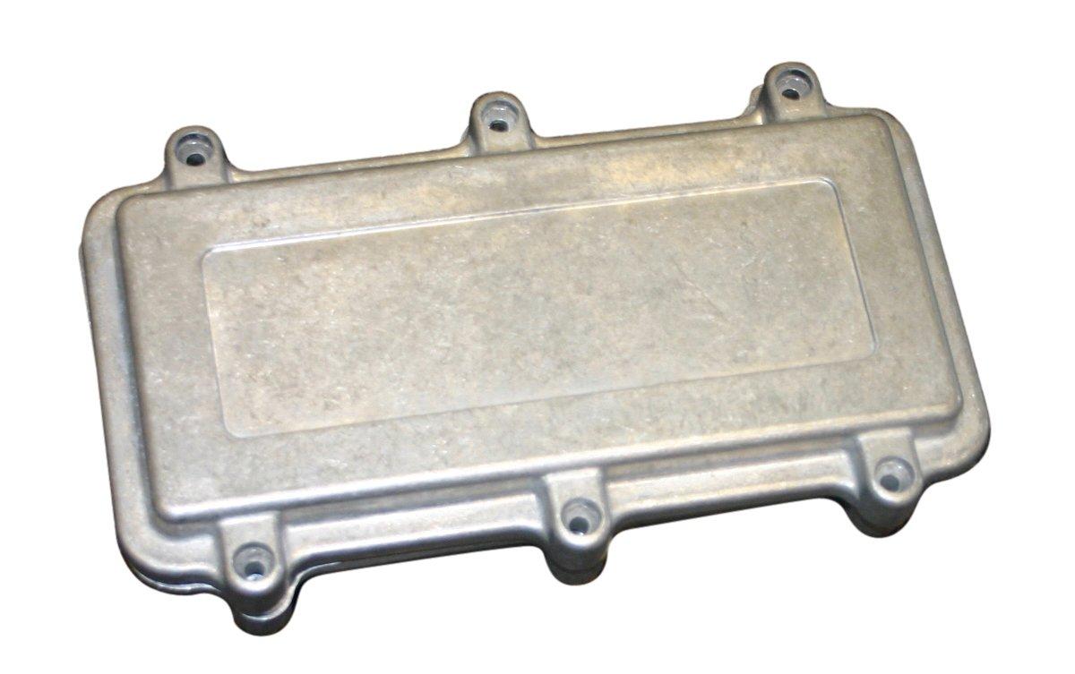BUD Industries ANS-3835 Aluminum NEMA Die Cast Box with EMI/RFI Shielding, 10-19/64'' Length x 7-5/32'' Width x 3-17/32'' Depth, Natural Finish